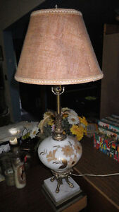 Matching table lamp and tall lamp