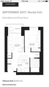 Subletting Sage 2 one bedroom unit furnished