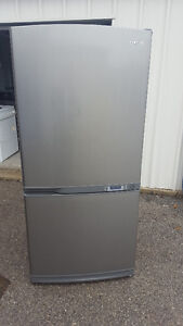 Stainless steel fridge 350.00 and stainless steel stove 250.00