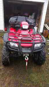 2013 honda rubicon 500 with warn plow 7500 obo