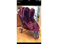 Double City mini Jogger in plum purple excellent condition
