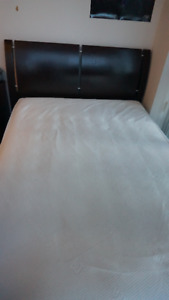Full bed frame + Sealy mattress + nightstand