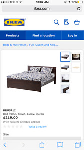 Brand New IKEA Queen Bed Frame - Black