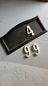House number plack