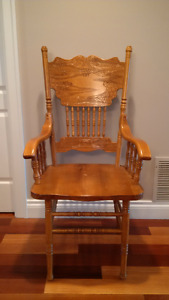 Antique style, solid wood chair