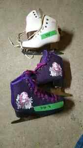 Girls figure skates size 5/8 and 3