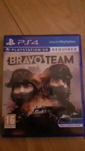 Bravo Team for PS4 PSVR game disk and case