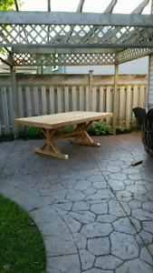 4' x 7' outdoor farmhouse table