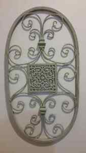 DECORATIVE GREY METAL WALL ART