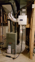 Humidifier, Furnace, Water Heater, Gas Pipe, Stove, Fireplace