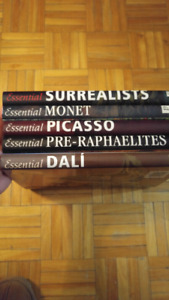 5 art hardcover books