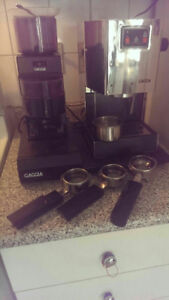 COMMERCIAL HOME GAGGIA ESPRESSO & COFFEE MACHINE AND GRINDER