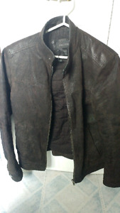 Men's Small Size 36 Danier Brown Leather Jacket