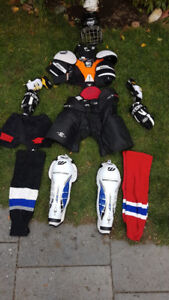 youth hockey equipment set (clean, quality and lightly used )