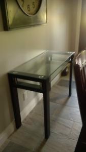 Glass desk/Sofa Table