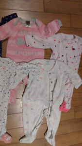 Girl Sleepers Size 6 months