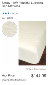 Safety 1st Crib Mattress, Matress Protector & Bamboo Sheet