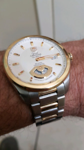 Tag heuer grand carrera calibre 6rs gold and steel