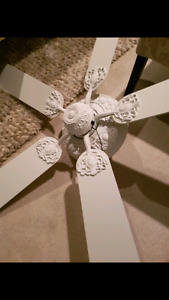 White shabby chic room fan - beautiful vjnyage style