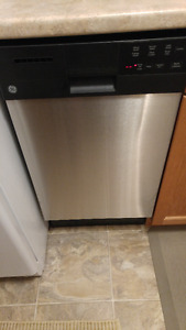 """GE Stainless Steel 18"""" Built-In Dishwasher"""