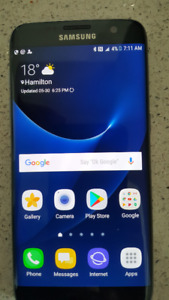 Samsung Galaxy S7 Edge 32GB Like New with box and unused headset
