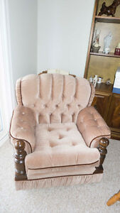 Beige living room chair