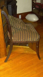 BEAUTIFUL ANTIQUE SIDE CHAIR, RECOVERED!
