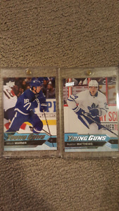Marner and Matthews Young Guns Rookie cards