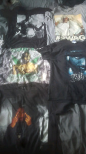 2 PAC t-shirts good condition also 5 posters