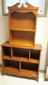 Bookcase solid wood (2 pieces)