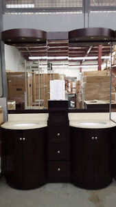 "60"" Double Sink Vanity and Drawer Set (Round)"