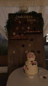 Real wood donut wall - only used once! ($750 OBO)