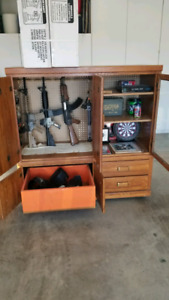 Airsoft guns and cabinet