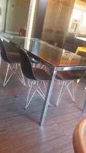 Modern chrome table for sale (table only)! Oakville / Halton Region Toronto (GTA) image 2