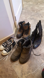 Assorted size 9 boots