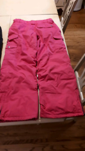 Snow pants size 14 and XL (girls 8-10 yrs)