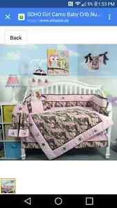 Soho pink camo crib set  Belleville Belleville Area image 1
