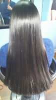 Hair straightening services for women's only
