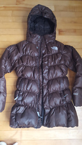 Girls size 10/12 North Face long winter puffer jacket