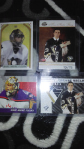 Marc-Andre Fleury rookie & insert cards