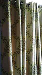 """4 84"""" curtain panels from the Paint Shop and 4 matching cushions"""