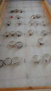 Silver rings. Price - $5