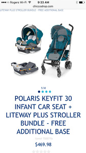 Chico car seat and stroller combo