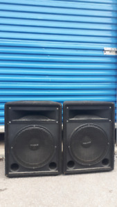 """Eminence 15"""" pa speakers. $300 pair. Firm. excellent condition"""