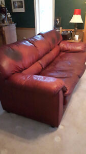 Free leather couch and loveseat