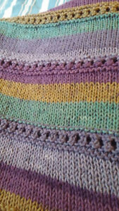 Hand knit queen size afghan
