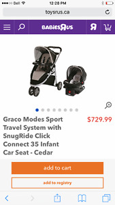 Stroller with car seat and base