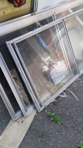 Older style storm windows with screen