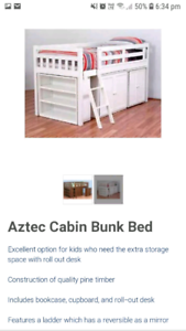 Aztec king single loft bed