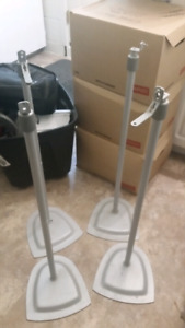 Grey speaker stands